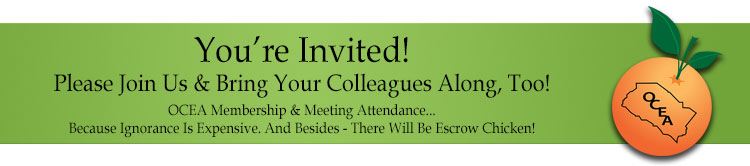 OCEA - You're invited! Please join us, and bring a colleague or two!