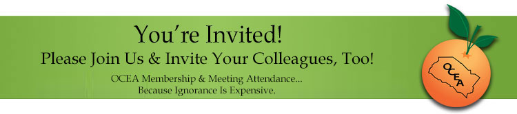 OCEA - You're invited! Please Join Us & Invite Your Colleagues, Too!